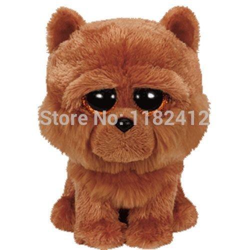 new-ty-plush-animals-beanie-boos-barley-brown-chow-dog-plush-toy-15cm-6-cute-ty-big-eyes-stuffed-ani