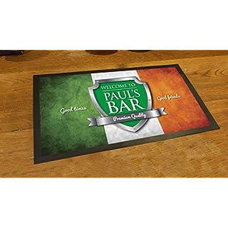Artylicious Personalised Irish flag shield beer label bar pub mat runner counter mat