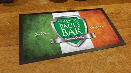 Etichetta Personalizzata Bandiera Irlandese Shield birra bar pub Tappetino runner Counter