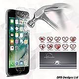 iPhone 7tempered glass Screen Protector, Apple iPhone 7protezione schermo in vetro temperato, ultra resistente antigraffio ultra chiaro con 2.5d ARC Edge