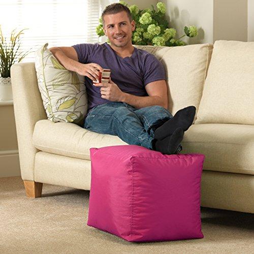 Bar B Cube Sitzsack Hocker PINK–Innen-& Außenbereich–wasserdicht Sitzsäcke