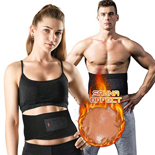 SGODDE Bauchgürtel Einstellbare Bauchweggürtel Fettverbrennung Schwitzgürtel, Damen und Herren Verstellbarer Fitnessgürtel Schwitzgürtel,für Fitness Bauchweg Wärme Gürtel für Schnell Einfach Abnehmen