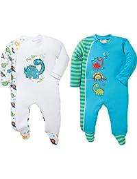 Baby Butt Schlafanzug 2er-Pack mit Druckmotiv Dino Interlock-Jersey
