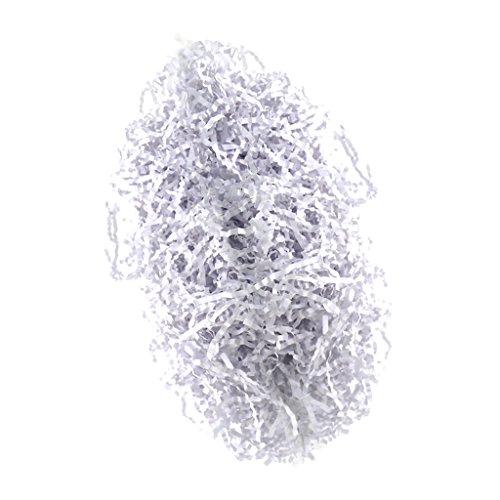100 G/Pack Ostern Geschreddertes Papier Korb Gras Handwerk Shredded Tissue Geschenk Füllstoff Papier Shreds zum Stauen Ostern Korb Geschenk Boxen, Handwerk - Weiß ()