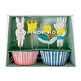 Osterhasen Muffinset - Cupcake Kit Ostern mit Dekopickern von Meri Meri