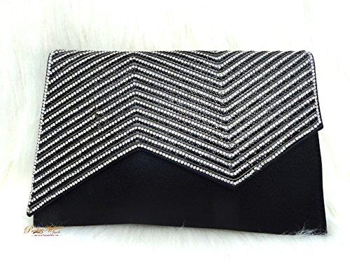 PrestigeApplause - Jewels UK , Damen Clutch Schwarz schwarz schwarz