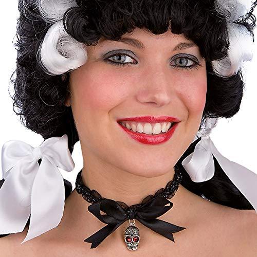 Carnivaltoys - Collar C/Skull Metal En cartón - Carnaval de Halloween