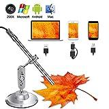 Microscope Numérique USB HD Camera Endoscopique 3 en 1 USB/USB C 10x À 200x loupe Caméra d'inspection étanche pour Android Smartphone Mac Tablette PC Windows
