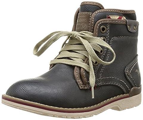 Mustang Schnür-Booty, Unisex-Erwachsene Kurzschaft Stiefel, Grau (259 graphit), 35 EU