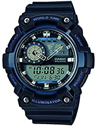 Casio Collection – Herren-Armbanduhr mit Analog/Digital-Display und Resin-Armband – AEQ-200W-2AVEF