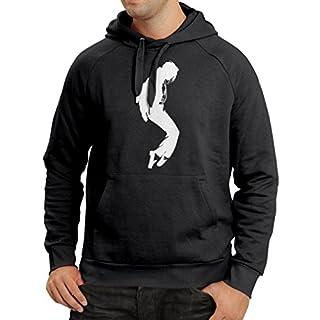 lepni.me Kapuzenpullover Ich Liebe MJ - Fanclub Kleidung, Konzert Kleidung (Medium Schwarz Weiß)