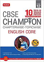 10 Years CBSE Champion Chapterwise-Topicwise - English Core