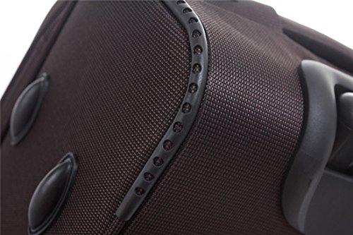 BEIBYE 4 Rollen Reisekoffer 3tlg.Stoffkoffer Handgepäck Kindergepäck Gepäck Koffer Trolley Set-XL-L-M (Coffee, M-Handgepäck-54cm) - 2