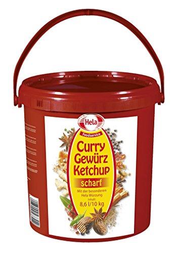 Hela - Curry Gewürz Ketchup scharf Eimer Sauce Dip Tomatenketchup Curryketchup - 8,6l/10kg