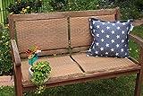 Gartenbank Zierkissen Sterne blau auch für Lounge Gruppen
