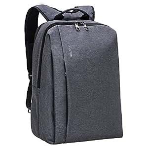 SLOTRA Zaino per Computer Portatile 17'' ANTIFURTO Cerniere Unisex Grande Elegante Ufficio Affari Lavoro laptop backpack 47 x 30 x18cm-Grigio Scuro