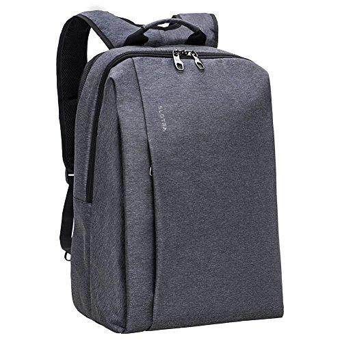 SLOTRA Business Laptop Rucksack 15.6 -17 Zoll für Damen, Herren, Student,geeignet für Schule, Reisen, Outdoor Backpack 47x30x18cm (dunkelgrau)