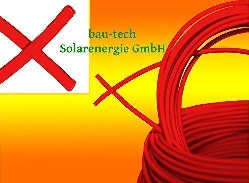 15 Meter Solarkabel ROT Photovoltaik 6mm² Meterware für PV Solar Photovoltaik Montage