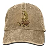 Sloth and Turtles Denim Baseball Caps Hat Adjustable Cotton Sport Strap Cap
