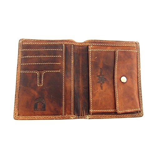 flevado Pedro Büffel Leder Brieftasche Hochformat Hand Made