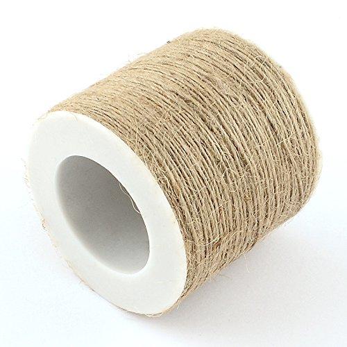 SiAura Material Bobine de Ficelle de chanvre / Corde de chanvre Marron 1 mm x 100 m