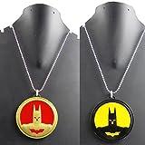 Best Necklace For 2 Prime - eshoppee designer batman pendant locket with chain necklace Review