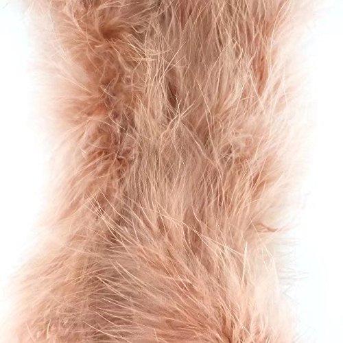 Celine Lin 1PC 2Yards/longitud teñida Fluffy Boa de plumas Loose Turquía plumas de marabú para fiestas/disfraces/chal/boda/decoración para el hogar