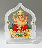 #10: Eknoor Car Dashboard Idol- Goldplated- Ganesh ji with japa mala (prayer beads)