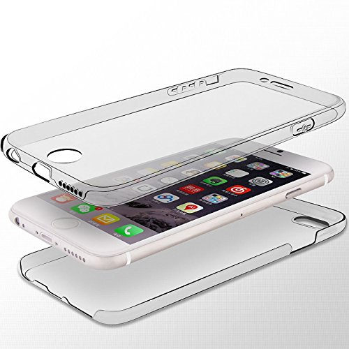 Full Body Weich Ultra Dünn Flexibel und stoßfest 360 ° transparent Slim Gel Case Cover Skin für Apple iPhone 6/6S (11,9 cm) babyrosa