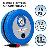 #4: AllExtreme AE-CQ8002 Hi-Power Tyre Inflator with Analog Tyre Pressure Gauge Car Tire Tyre Air Pressure Gauge Diagnostic Emergency Tool Air Compressor -Tire Tester Meter Manometer for Auto Car Motorcycle (Blue)
