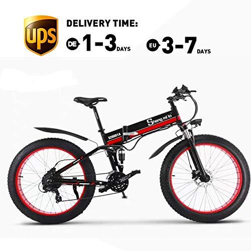 Unbekannt elektrisches Fahrrad 500W 48V12AH elektrisches faltendes Mountainbike 26 'volle Aufhebung