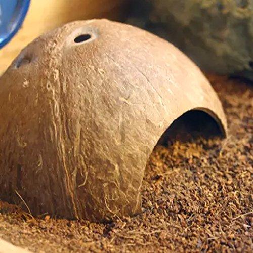 ECMQS Kleinen Lebendige Reptil Versteckt Verstecken Lebensraum Cave Reptil Schildkröte Garnelen Haus für Aquarium Aquarium Dekoration Ornament (Hideaway Ornament)