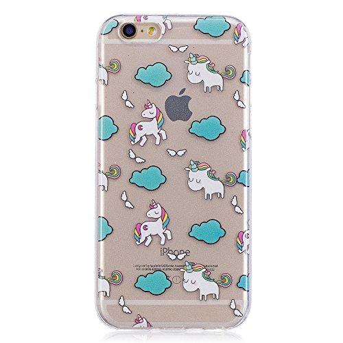 iPhone 6/6S 4.7 Hülle, Voguecase Silikon Schutzhülle / Case / Cover / Hülle / TPU Gel Skin für Apple iPhone 6/6S 4.7(Ice Cream 05) + Gratis Universal Eingabestift Einhorn 04