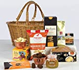 GIFT BASKET TREAT - Willow shopping basket packed with treats. Food Hampers by Web Hampers.
