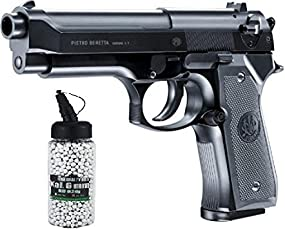 SET:Beretta M92 FS Airsoft mit Metal Slide 2.5161 0,5 Jule 6 mm BB Federdruck Softair + G8DS® Softair Munition BIO BBs Premium Selection 2000 Stück 0,20 g 6mm