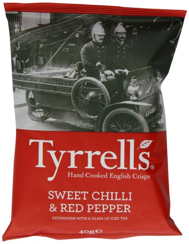 Tyrrell's Sweet Chilli und Red Pepper 40g, 24er Pack (24 x 40 g) Chili Peppers-designer