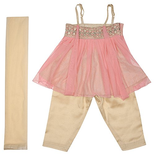 STOP by Shoppers Stop Girls Cotton Sleeveless Salwar Kameez Dupatta Set