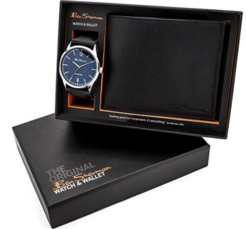 ben-sherman-azul-dial-negro-correa-reloj-para-hombre-y-negro-cartera-set-de-regalo-bs120g