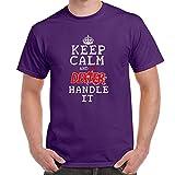 Herren Lustige Sprüche coole fun T Shirts-Keep Calm Let Dexter Handle It-Lila-3XL