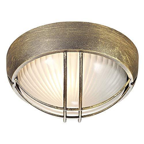 Tartaruga da veranda o da parete Circolare per esterni Nero/Oro Alluminio pressofuso da Haysoms