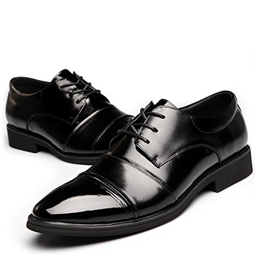 WZG trois communes rondes hommes chaussures affaires chaussures Les nouveaux hommes chaussures basses chaussures respirant chaussures casual chaussures en cuir noir , black , 44