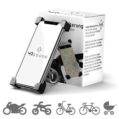 92a49fb5b4d3 MR Goods® Smartphone Soporte Bicicleta – Soporte para teléfono móvil para  Bicicletas y Motocicletas – Soporte al Manillar de Poner y los ...