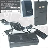 Original-Sony AC-V35 Power Adaptor Adapter Handycam Camcorder Netzteil Ladegerät Dockingstation AC in~110-240V,50/60Hz,20W,DC-Out 7.5V, 1.6A(VTR);10V 1.3A(BATT.) + Sony-Battery-Pack Model NP-66, 6V,1400mAh,NiCd, [Nr. 409084, Akku NP66]