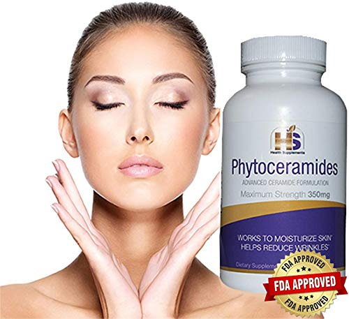 Phytoceramides, 350 Milligram, 90 Veggie Capsules with advanced Ceramides Formulation (3 months supply) Deep Skin Moisturizing, Plant Derived, GMO and Gluten Free - USA Made