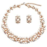#5: Shining Diva Fashion Jewellery Party Wear Pearl Necklace Set with Earrings for Women and Girls