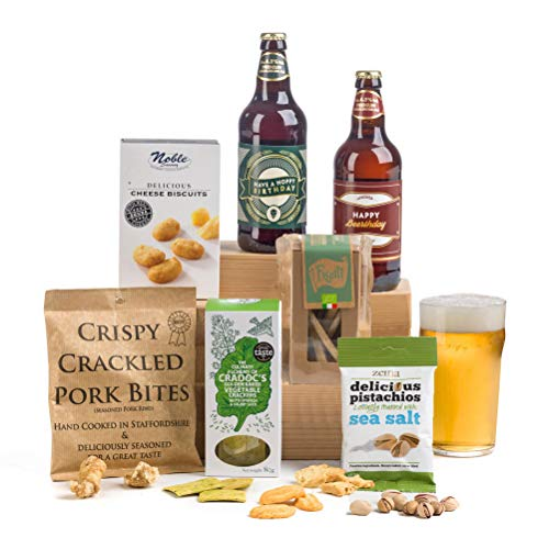 'Hoppy' 'Beer'thday - Birthday Beer & Nibbles Gift Hamper