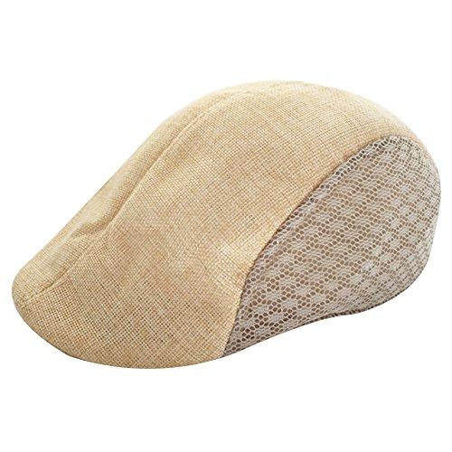 Preisvergleich Produktbild Peaked Cap, 2018 Neue Männer & Frauen Bequeme Atmungsaktive Leinen Beret Flat Cap Schirmmütze Golf Hut-Einfach und Großzügig