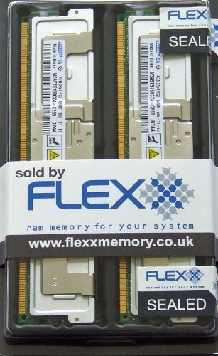 Samsung original 8GB kit (2 x 4GB) DDR2, PC2-5300-667MHz, Fully Buffered, ECC, FBDIMM, Server memory (Samsung Buffered Memoria)
