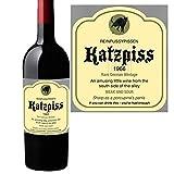 Boxer Katzpiss Weinflaschentüte, lustiges Weinetikett