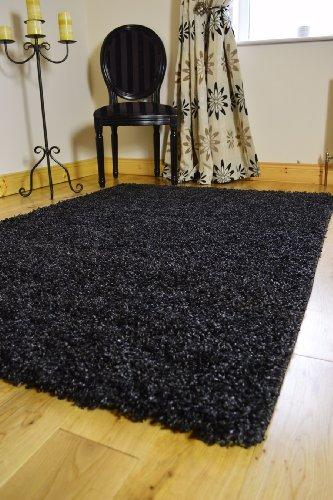 - Tapete pequeño, mediano, grande y extra grande; moderno, de color negro y plata, mezclado de 2tonos suaves. alfombra gruesa Shaggy, alfombra para dormitorio, alfombra para salón barata (5tamaños disponibles), negro, 80 X 150 CMS